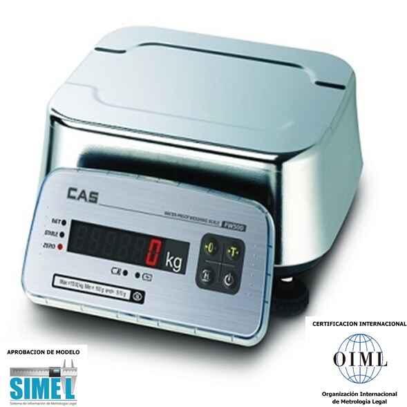 Balanza solo peso a prueba de humedad CAS - FW 500