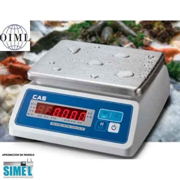 Balanza solo peso a prueba de Humedad Protección IP68 CAS SWII - EW